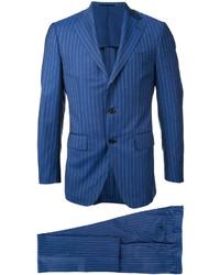 Costume en laine à rayures verticales bleu ESTNATION
