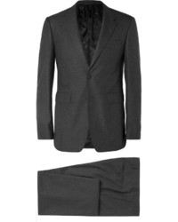 Costume en laine à rayures verticales gris foncé Burberry