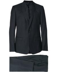 Costume en laine à rayures verticales gris foncé Dolce & Gabbana