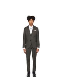 Costume en laine à rayures verticales gris foncé Neil Barrett