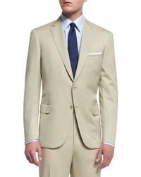 Costume en laine beige