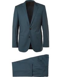 Costume en laine bleu canard Hugo Boss