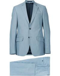 Costume en laine bleu clair Hardy Amies
