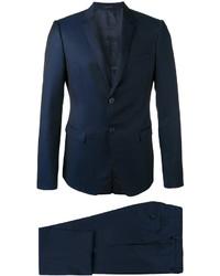 Costume en laine bleu marine Emporio Armani