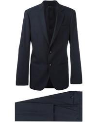 Costume en laine bleu marine Giorgio Armani