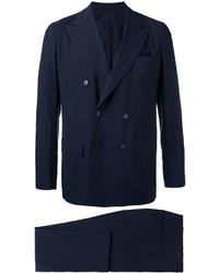Costume en laine bleu marine Kiton