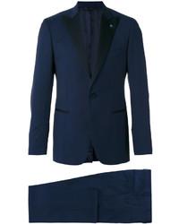 Costume en laine bleu marine Lardini