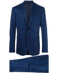 Costume en laine bleu marine Versace