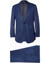 Costume en laine bleu