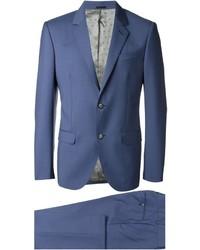 Costume en laine bleu Alexander McQueen