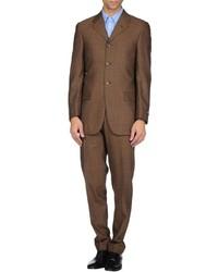 Costume en laine brun