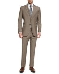 Costume en laine brun Giorgio Armani