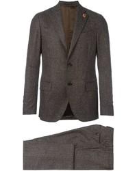 Costume en laine brun Lardini