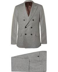 Costume en laine en pied-de-poule gris