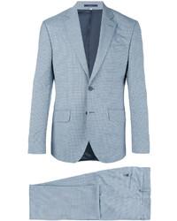 Costume en laine en vichy bleu clair Hardy Amies