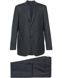 Costume en laine gris foncé Brioni