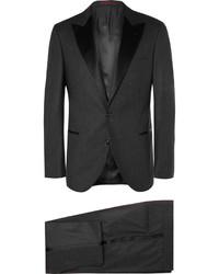 Costume en laine gris foncé Brunello Cucinelli