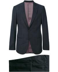 Costume en laine gris foncé Giorgio Armani