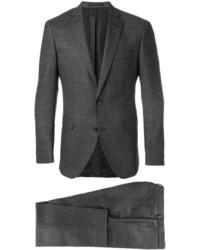 Costume en laine gris foncé Hugo Boss