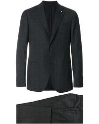 Costume en laine gris foncé Lardini