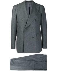 Costume en laine gris foncé Tagliatore