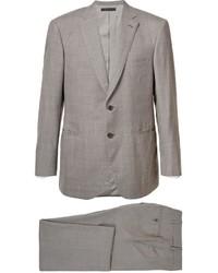 Costume en laine gris Brioni