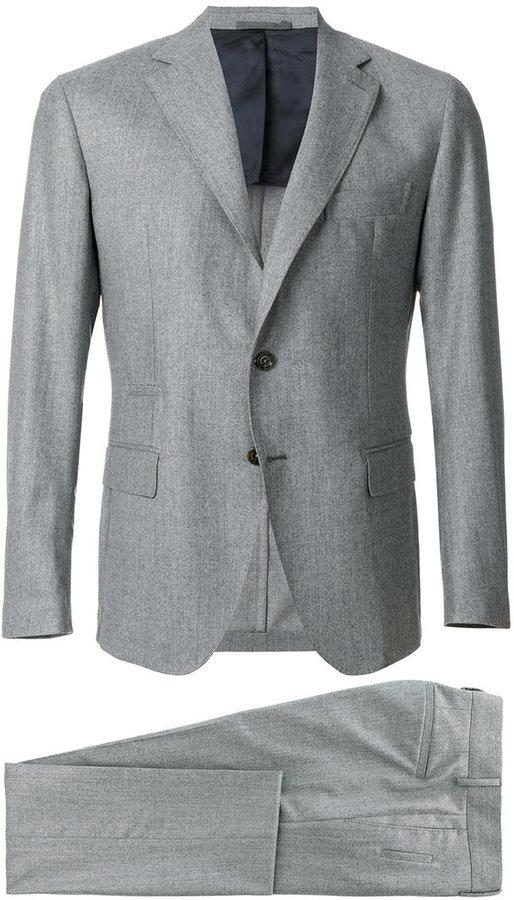 Costume en laine gris Eleventy