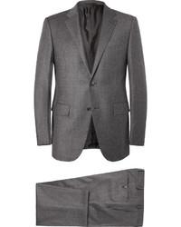 Costume en laine gris Ermenegildo Zegna