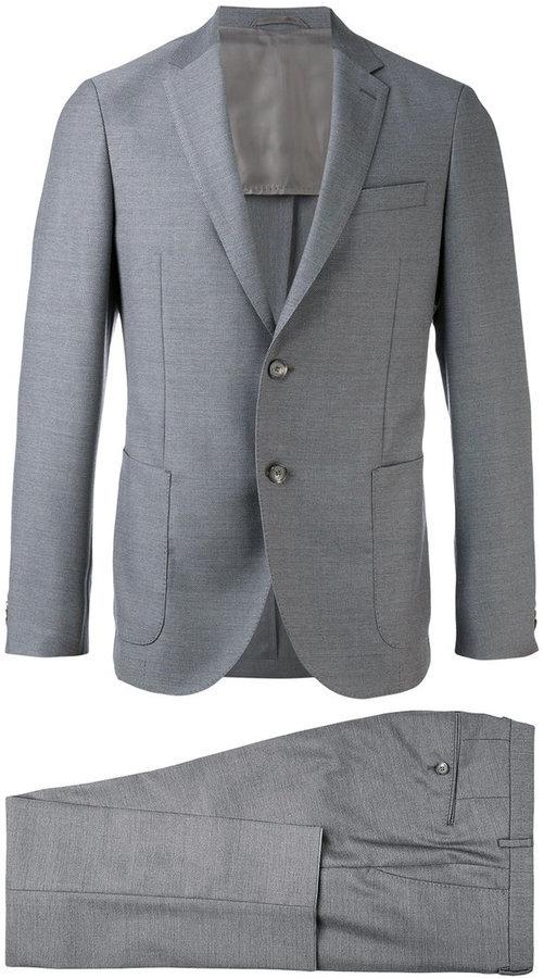 Costume en laine gris Hugo Boss