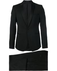 Costume en laine noir Emporio Armani