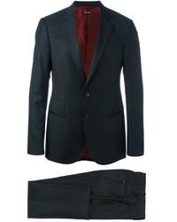 Costume en laine noir Giorgio Armani