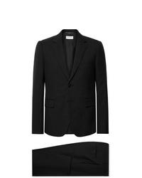 Costume en laine noir Saint Laurent