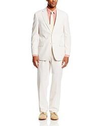 Costume en seersucker blanc