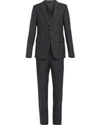 Costume gris foncé Prada