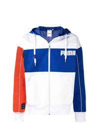 Coupe-vent blanc et bleu Puma
