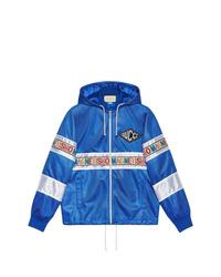 Coupe-vent bleu Gucci