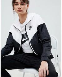 Coupe-vent imprimé blanc et noir Nike