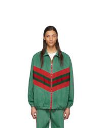 Coupe-vent imprimé vert Gucci