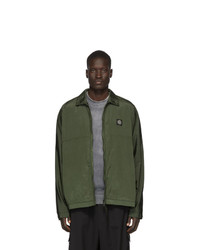 Coupe-vent olive Stone Island