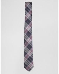 Cravate à carreaux bleu marine Selected