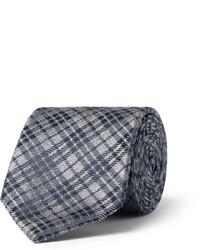 Cravate à carreaux gris foncé