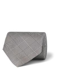 Cravate à carreaux grise Drakes