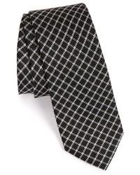 Cravate à carreaux noire