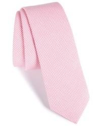 Cravate à carreaux rose