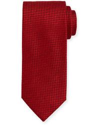 Cravate à carreaux rouge