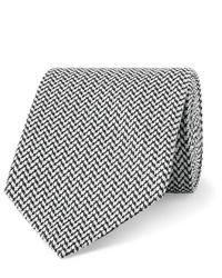 Cravate à chevrons gris foncé Etro