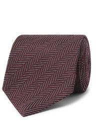 Cravate à chevrons pourpre foncé Tom Ford