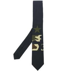 Cravate à étoiles noire Givenchy