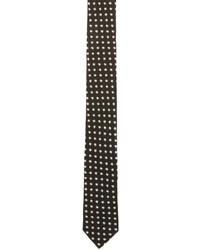 Cravate à étoiles noire Saint Laurent