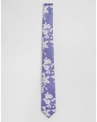 Cravate à fleurs bleu clair Asos